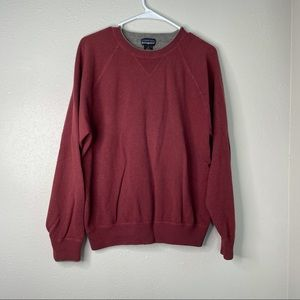 Patagonia Brick Red Cashmere Scoop Neck Sweater